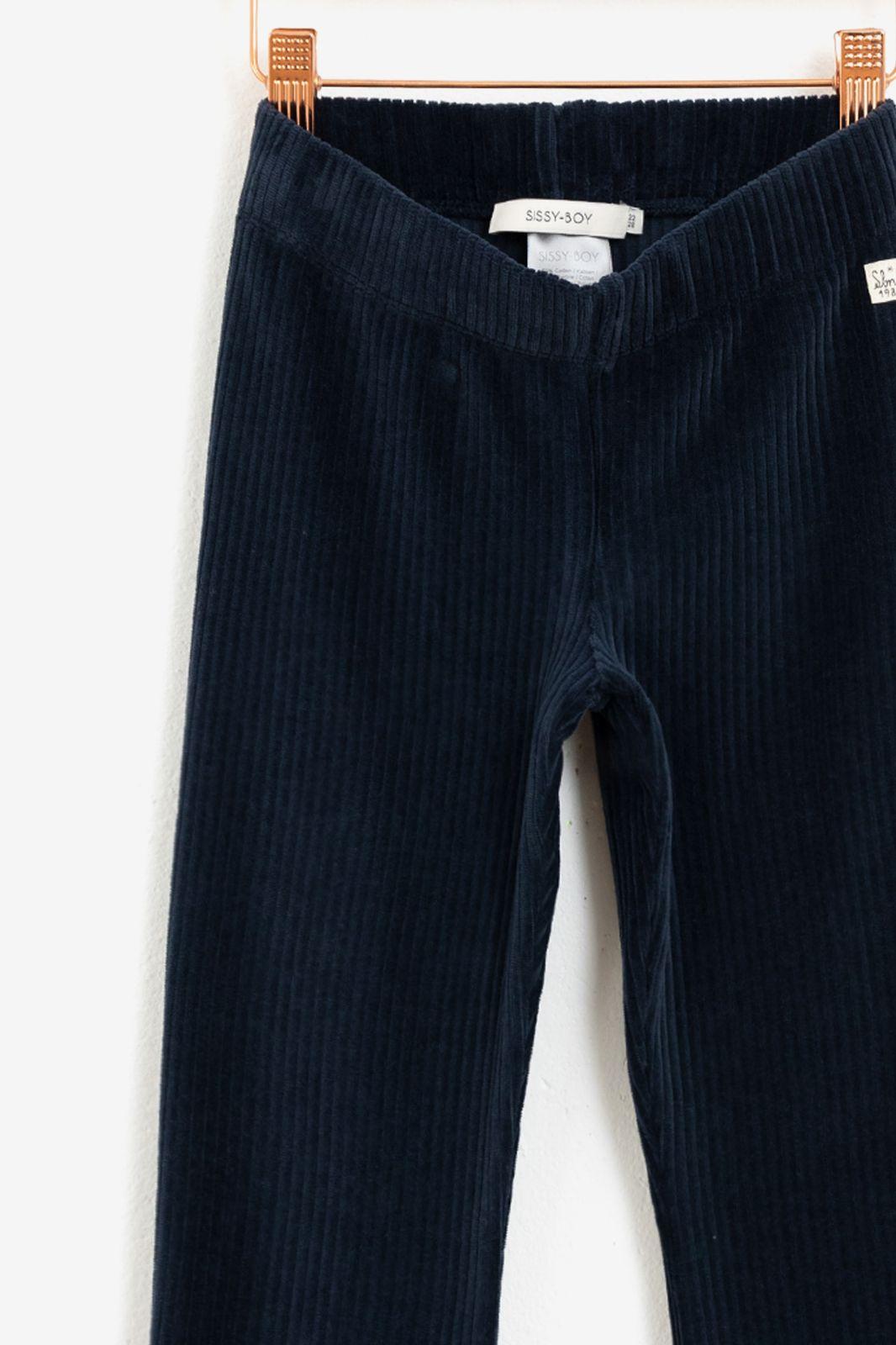 Donkerblauwe flared rib Legging - Kids | Sissy-Boy