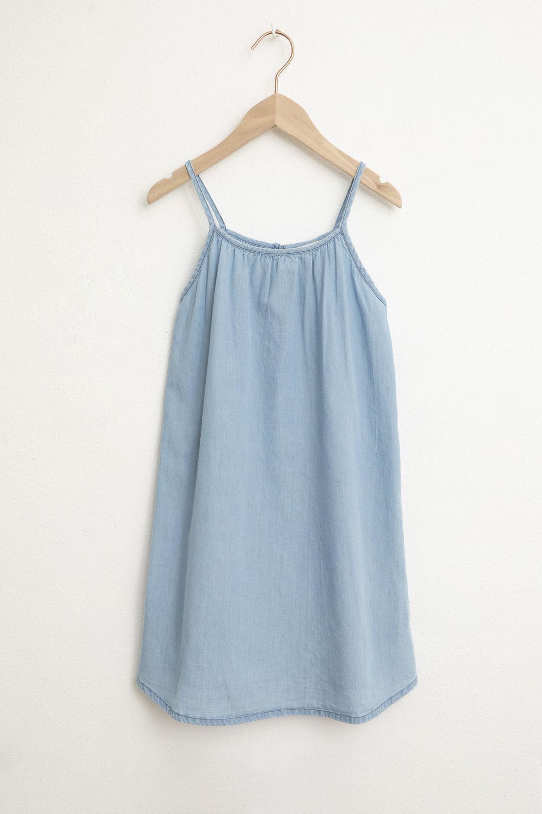 Lichtbaluwe denim jurk