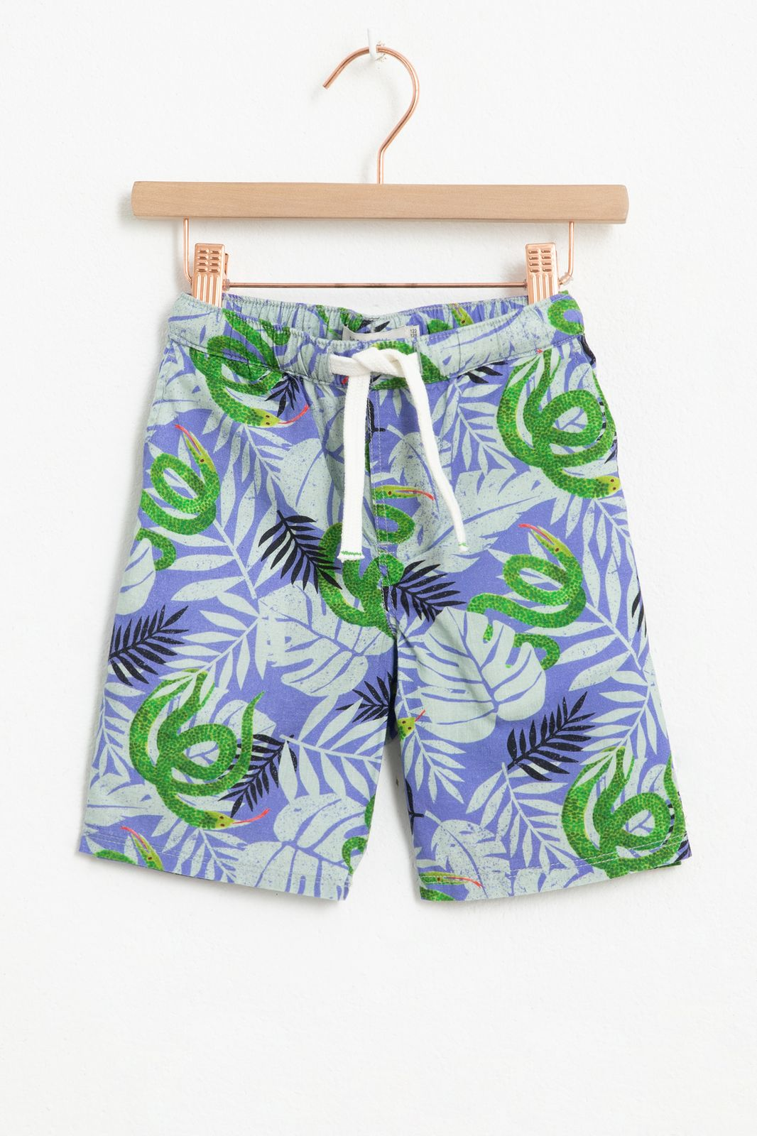 Blauwe shorts met all over snake print - Kids | Sissy-Boy