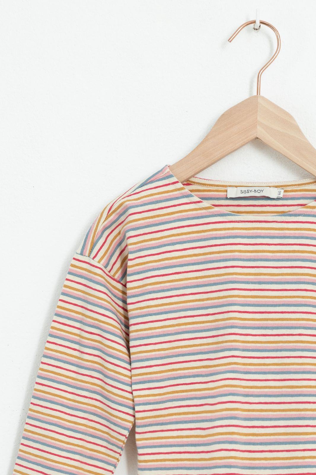 Multicolor gestreept T-shirt met lange mouwen - Kids | Sissy-Boy