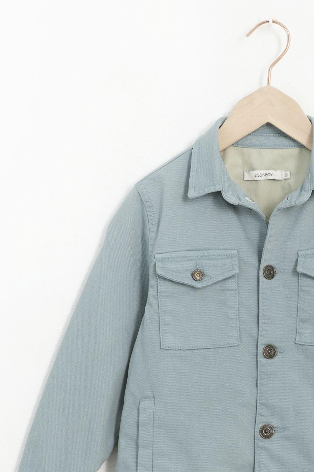 Blauw cropped denim jacket