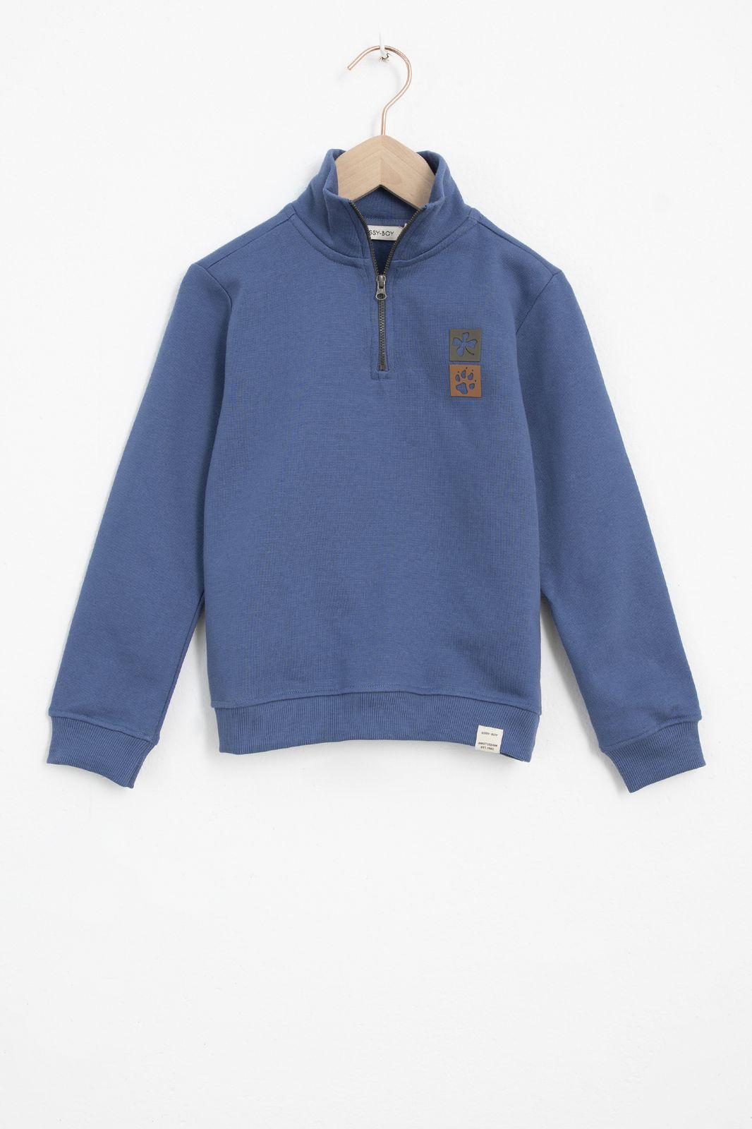 Blauwe hoodie met pootafdrukken - Kids | Sissy-Boy