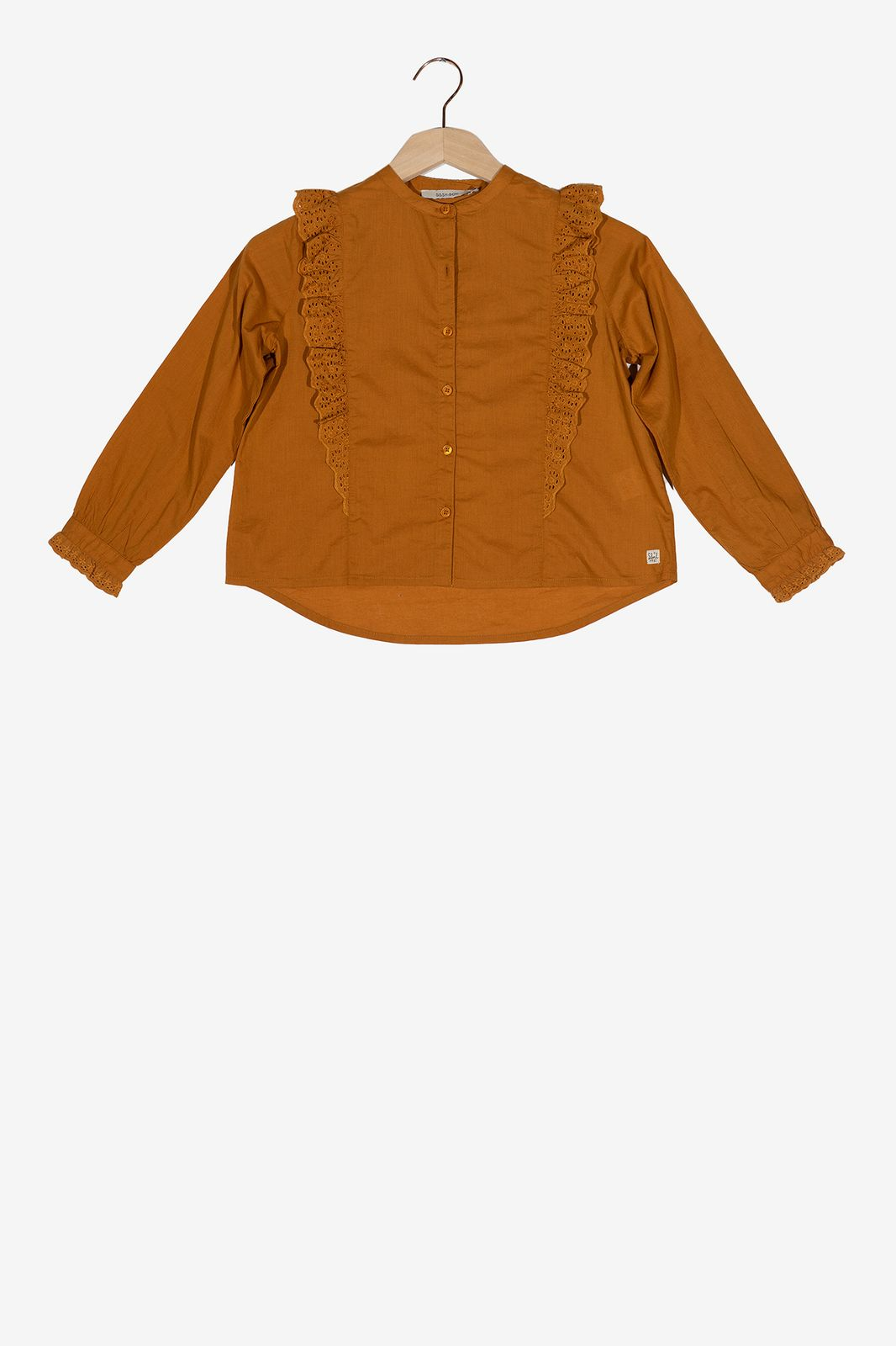 Bruine ruffle blouse - Kids | Sissy-Boy