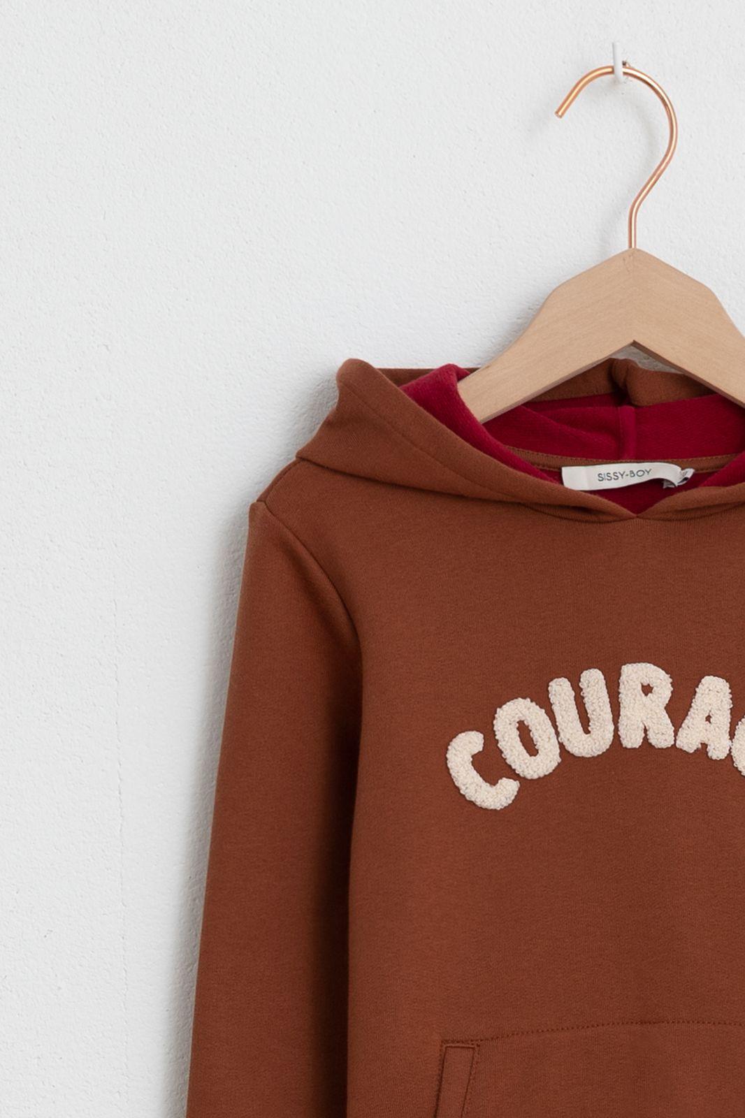 Bruine sweater met capuchon - Kids | Sissy-Boy