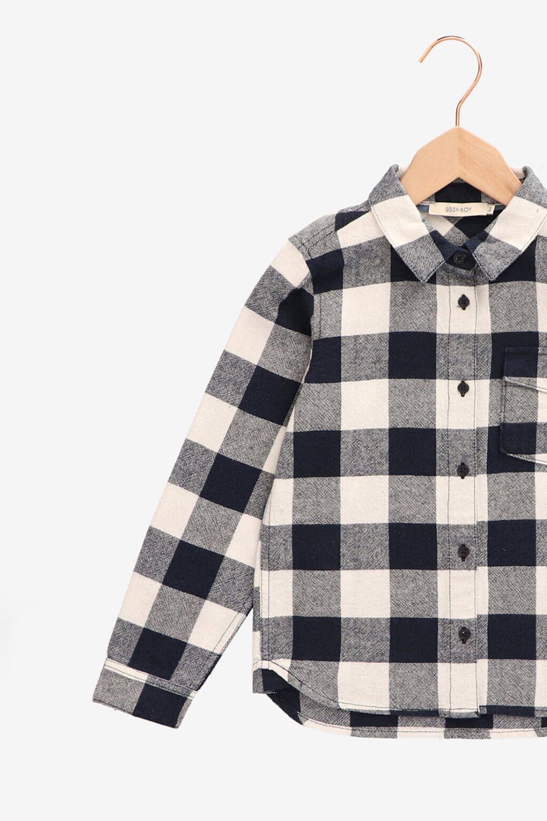 Geblokt overhemd met borstzakje - Kids   Sissy-Boy