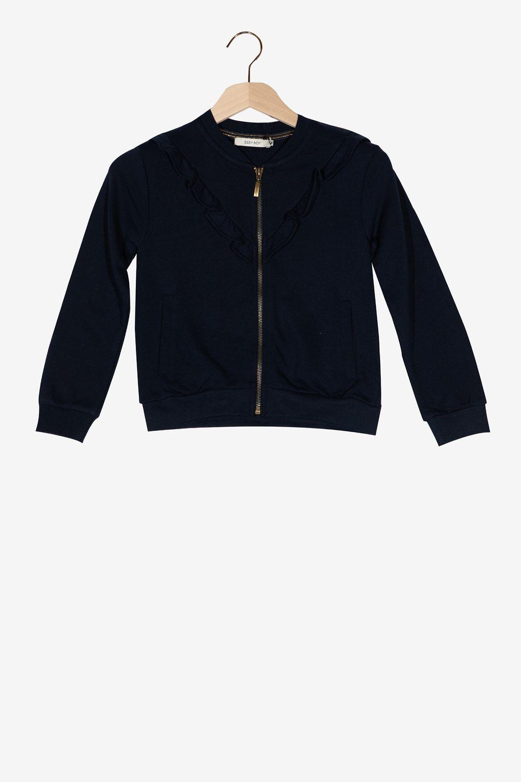 Donkerblauw vest met ruffles - Kids | Sissy-Boy