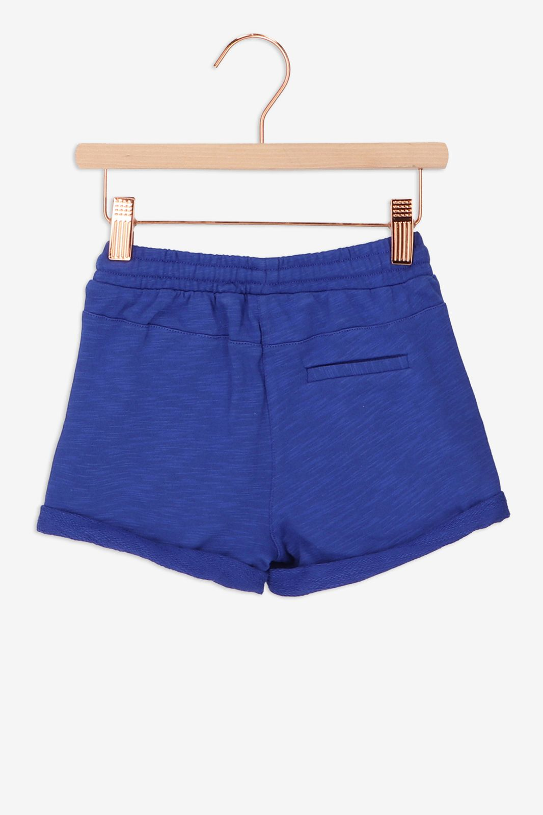 Blauwe sweat shorts