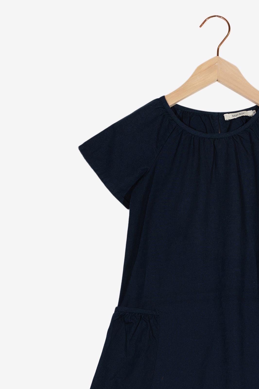 Donkerblauwe jurk met zakken - Kids | Sissy-Boy