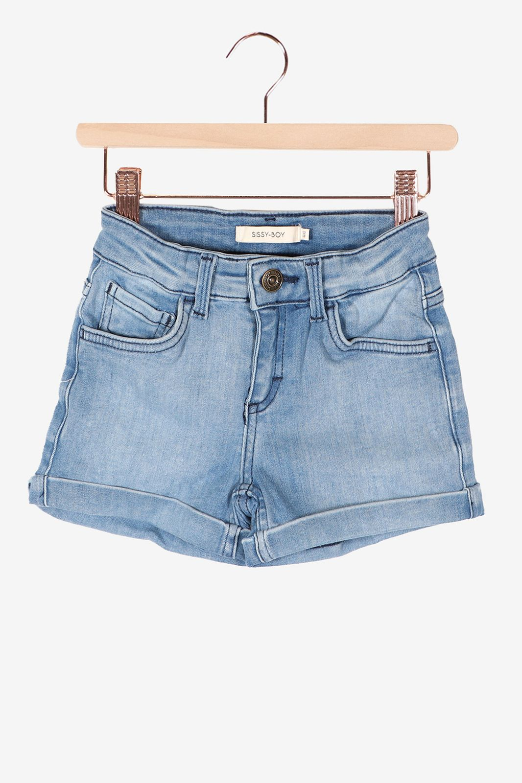 Donkerblauw denim short