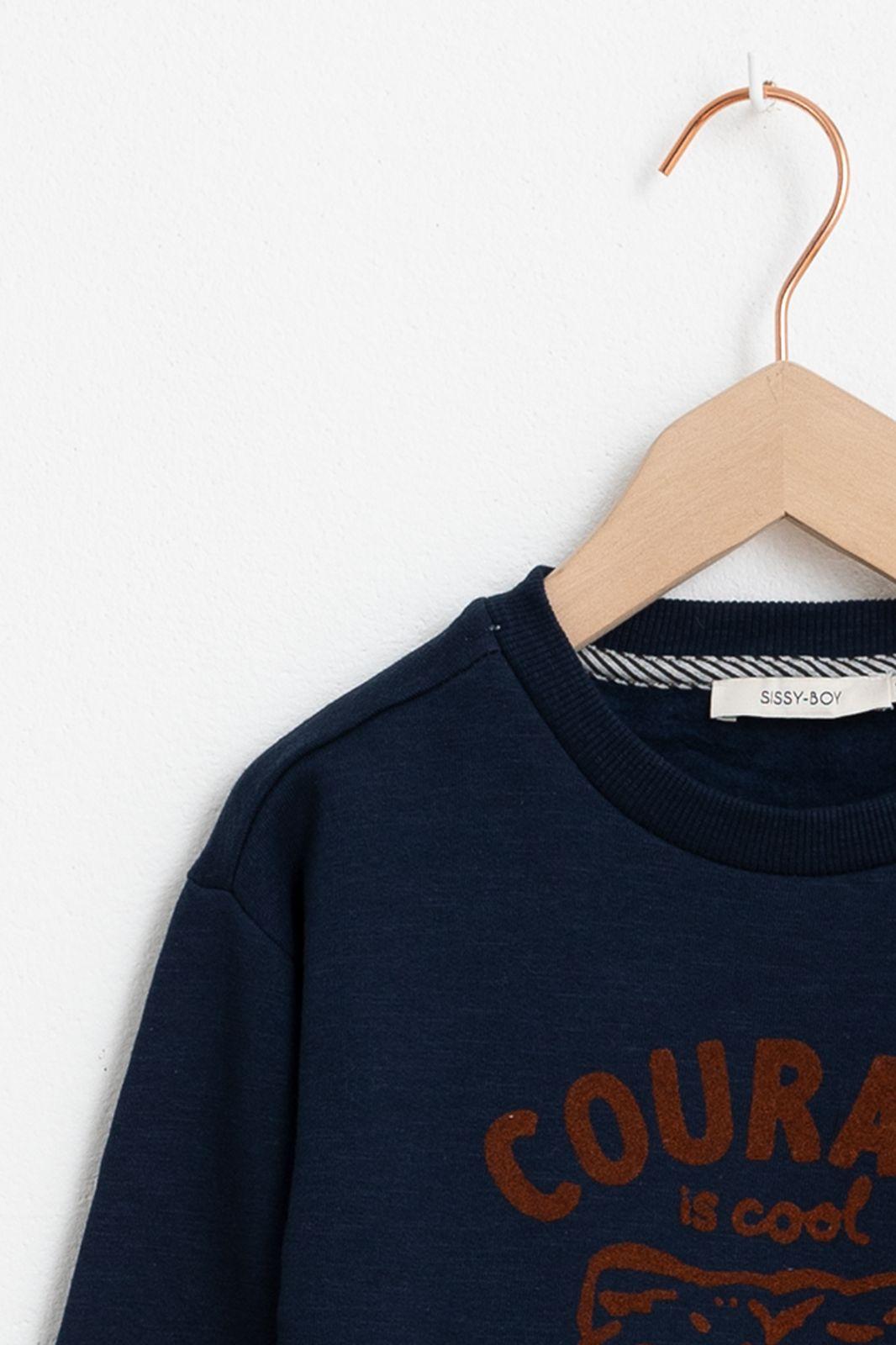 Donkerblauwe sweater courage - Kids   Sissy-Boy