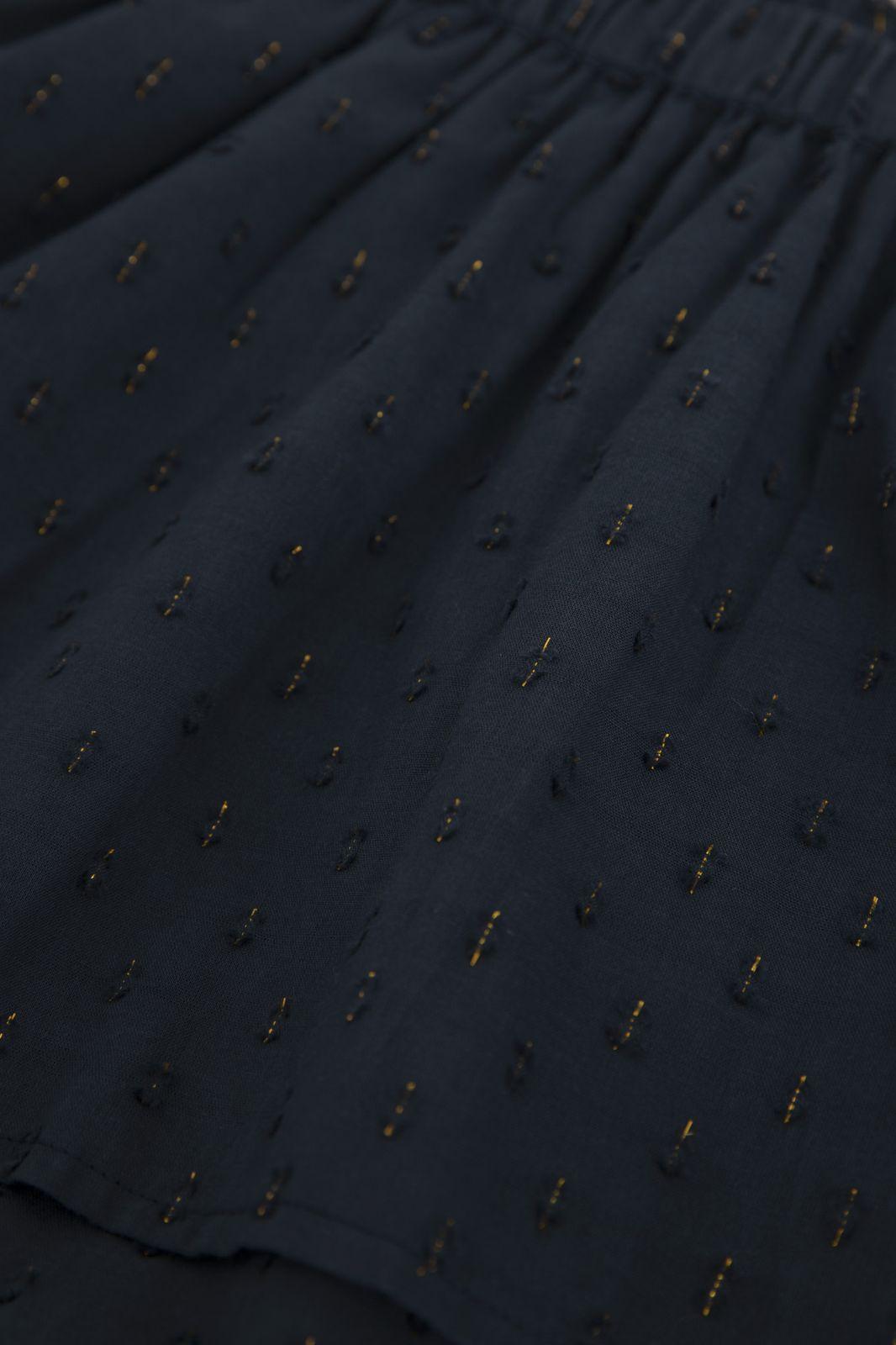 Donkerblauw ruffle rokje met lurex - Kids | Sissy-Boy