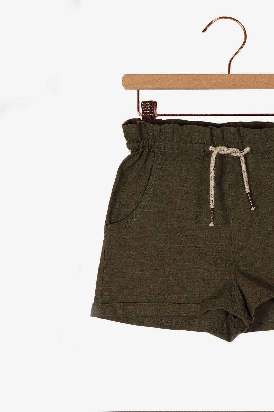 Donkergroene paperbag shorts - Kids | Sissy-Boy