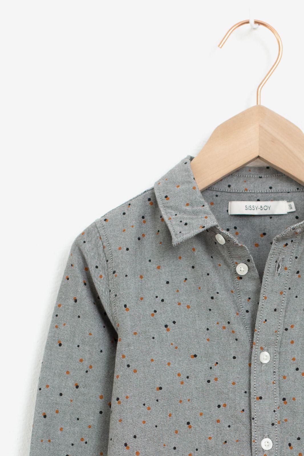 Donkergroen overhemd gespikkeld - Kids | Sissy-Boy