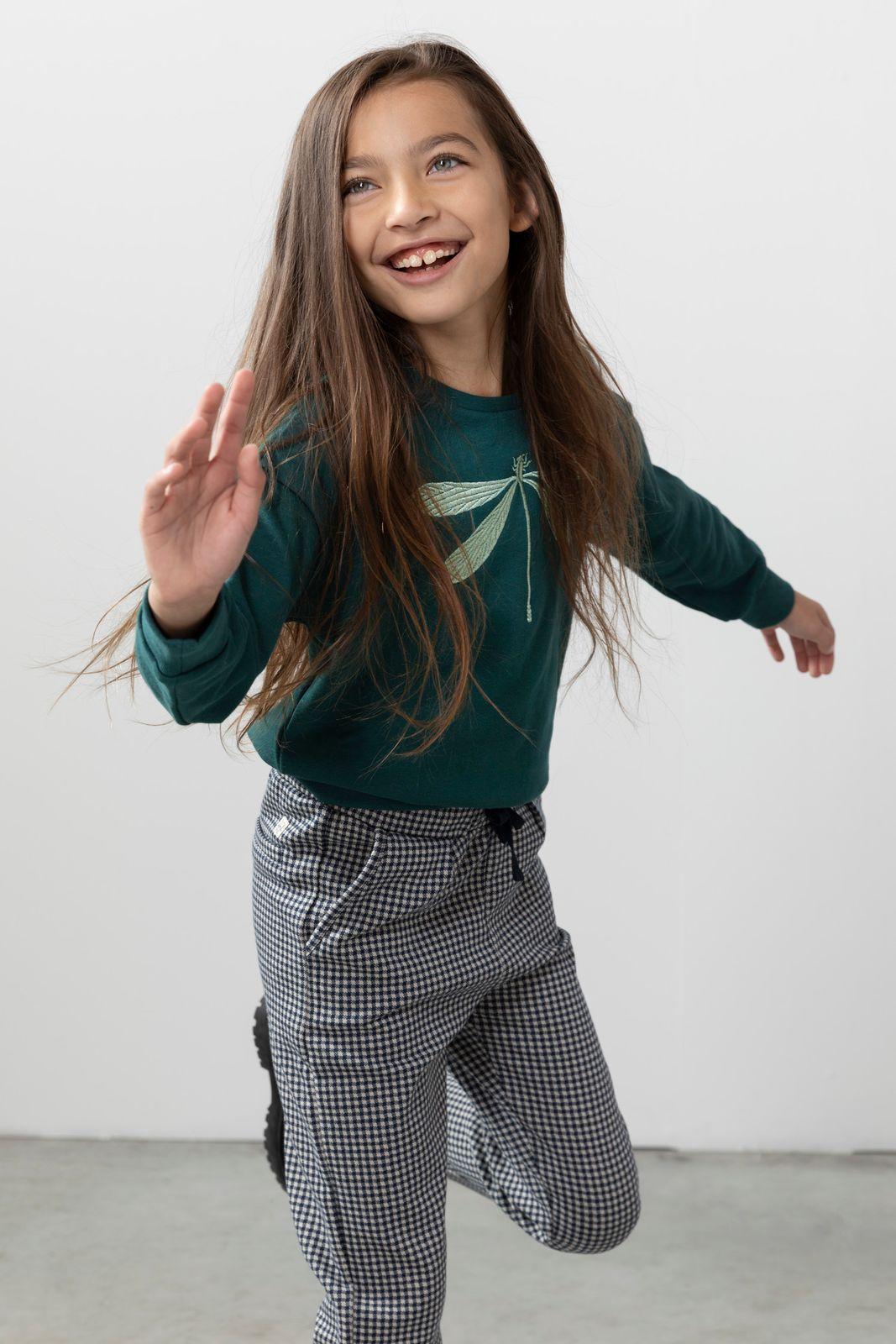 Groene sweater met borduursel - Kids | Sissy-Boy