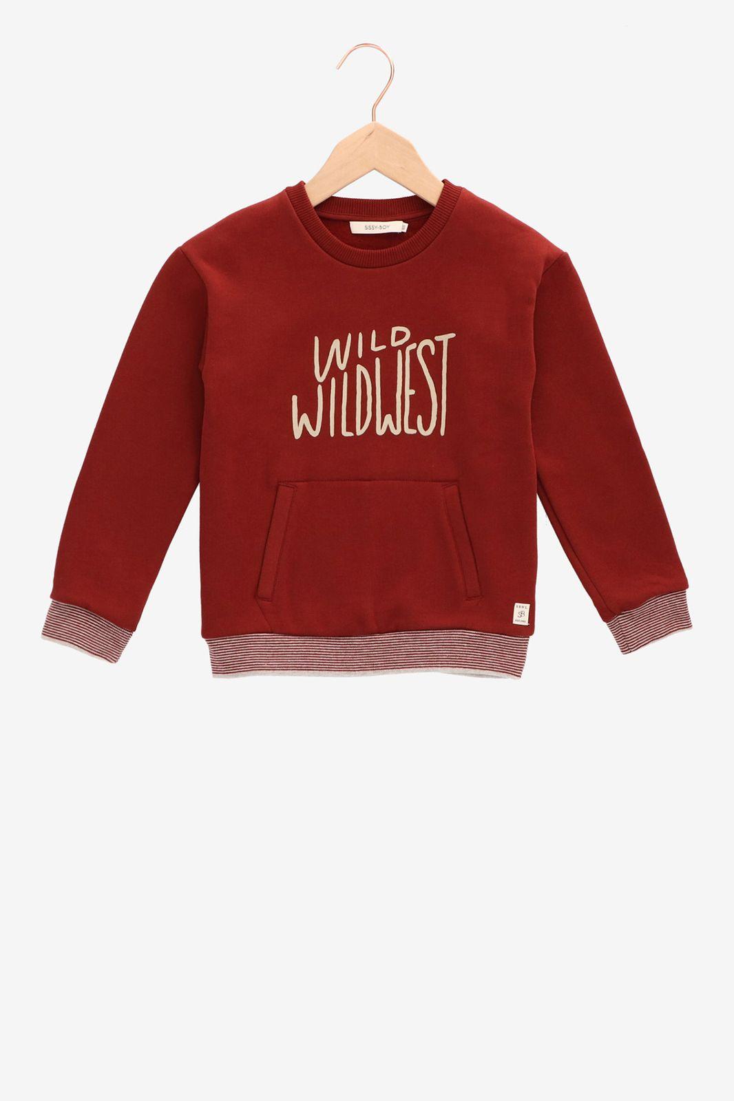 Donkerrode sweater wild wildwest - Kids | Sissy-Boy