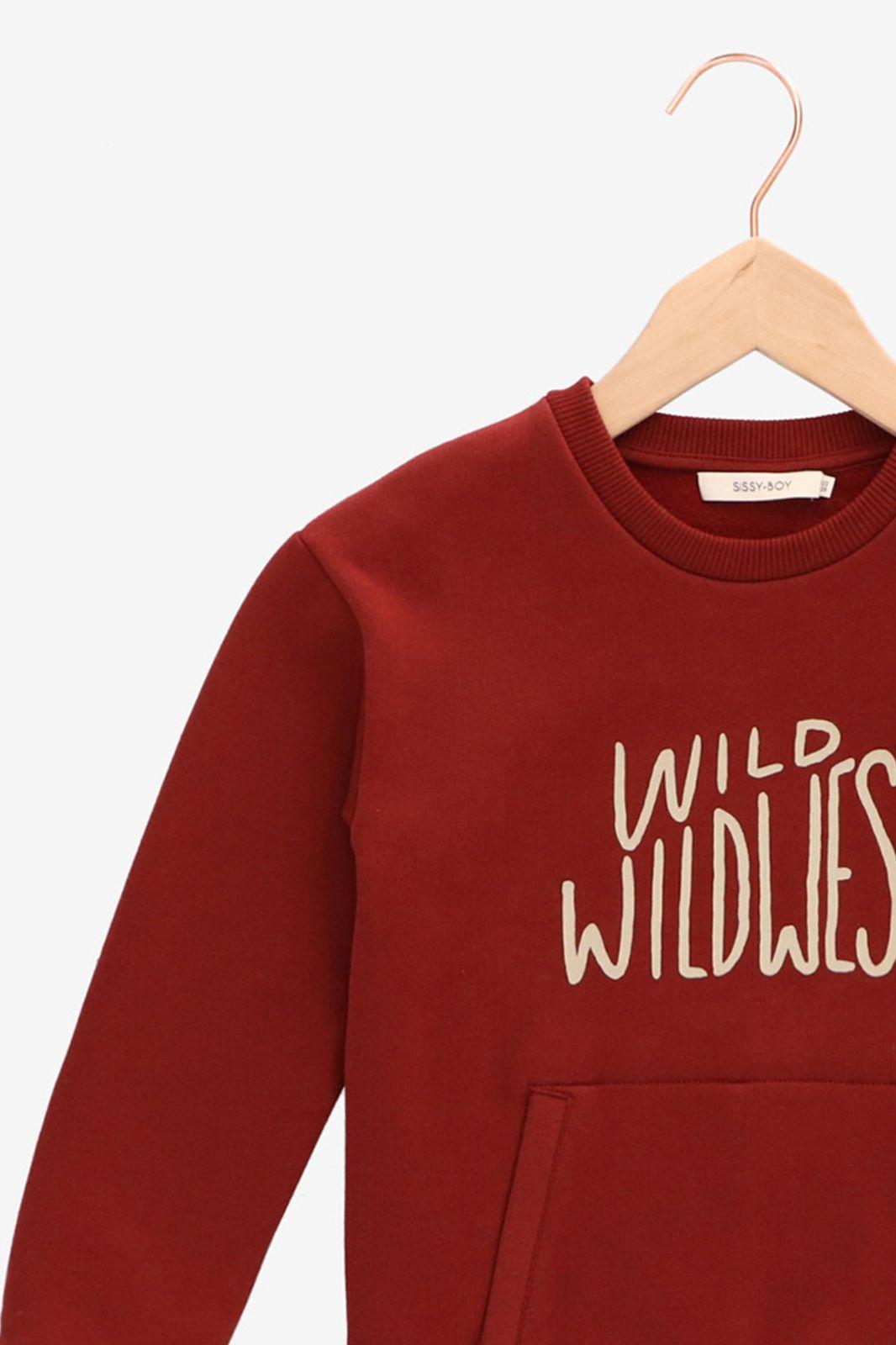 Donkerrode sweater wild wildwest - Kids   Sissy-Boy