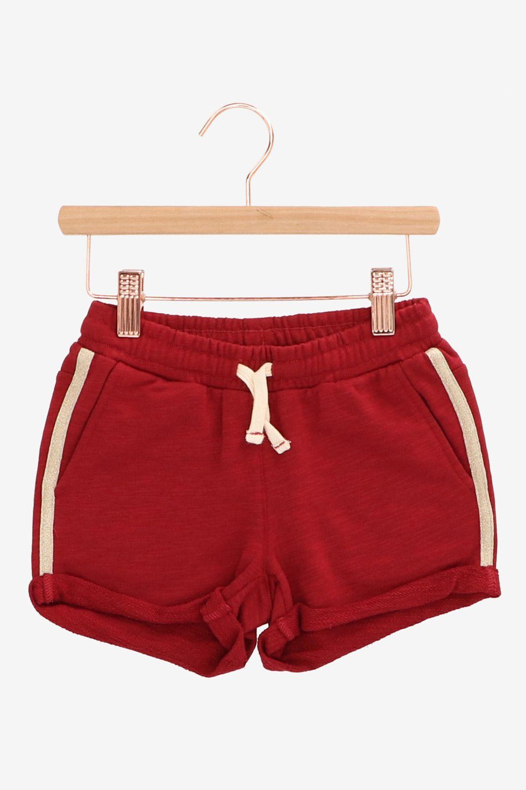 Rood jog shortje - Kids   Sissy-Boy