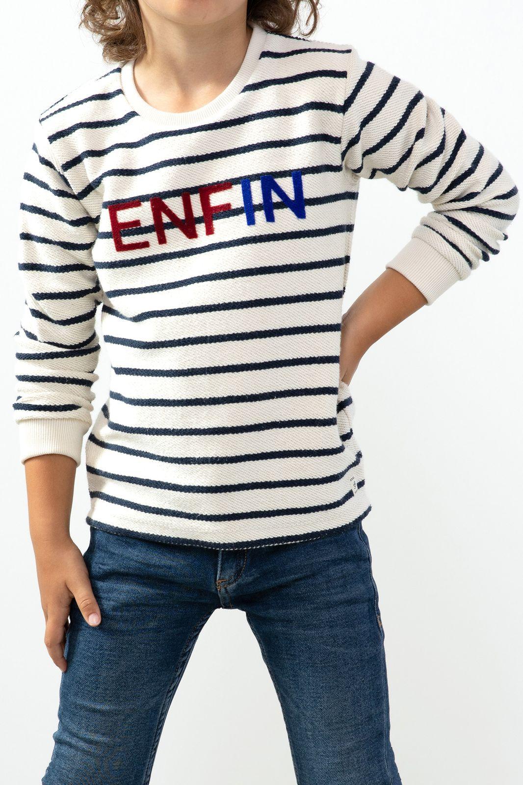Ecru sweater met tekst - Kids | Sissy-Boy