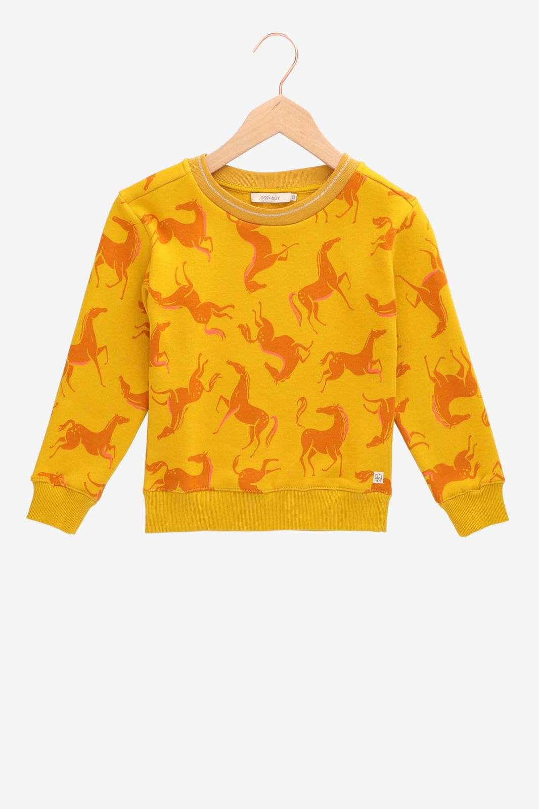 Gele sweater met paardenprint - Kids | Sissy-Boy