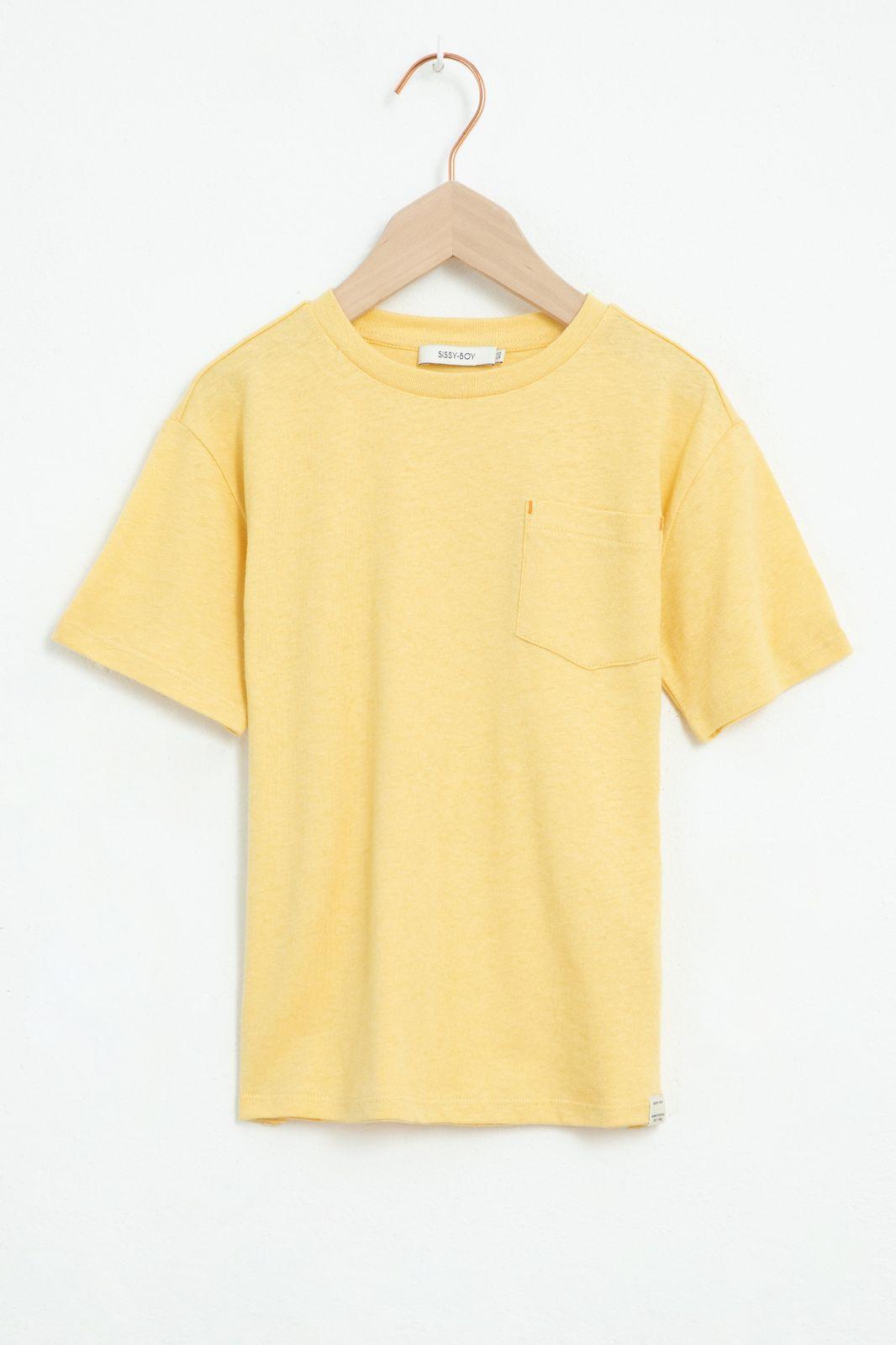 Geel T-shirt met korte mouw en artwork op de rug - Kids | Sissy-Boy