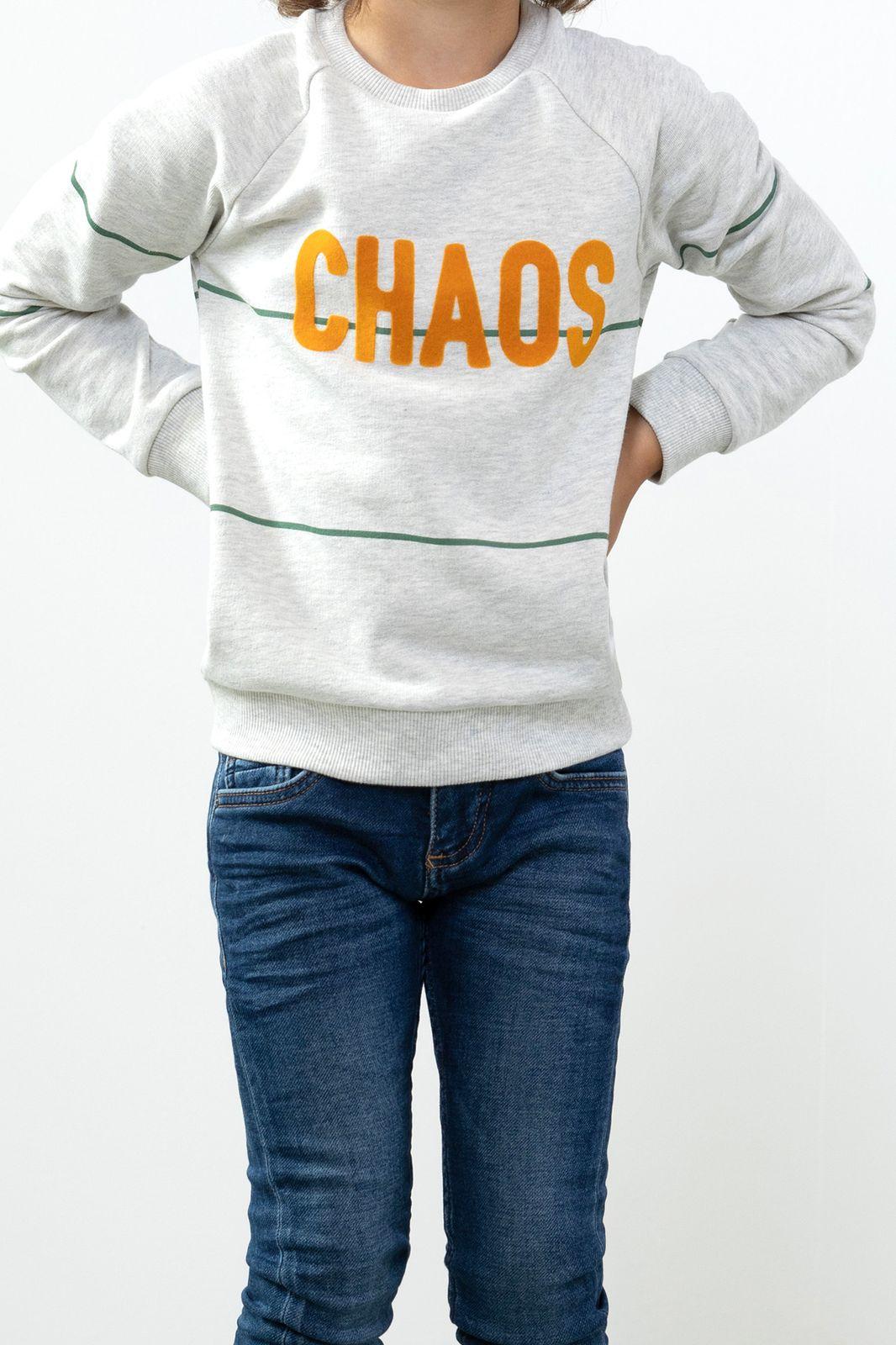 Grijze sweater chaos - Kids | Sissy-Boy