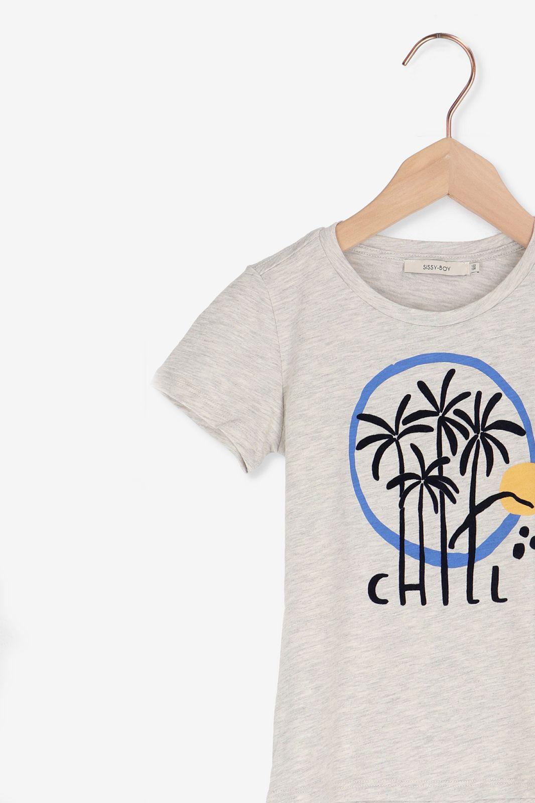 Grijs T-shirt met korte mouw en print - Kids | Sissy-Boy