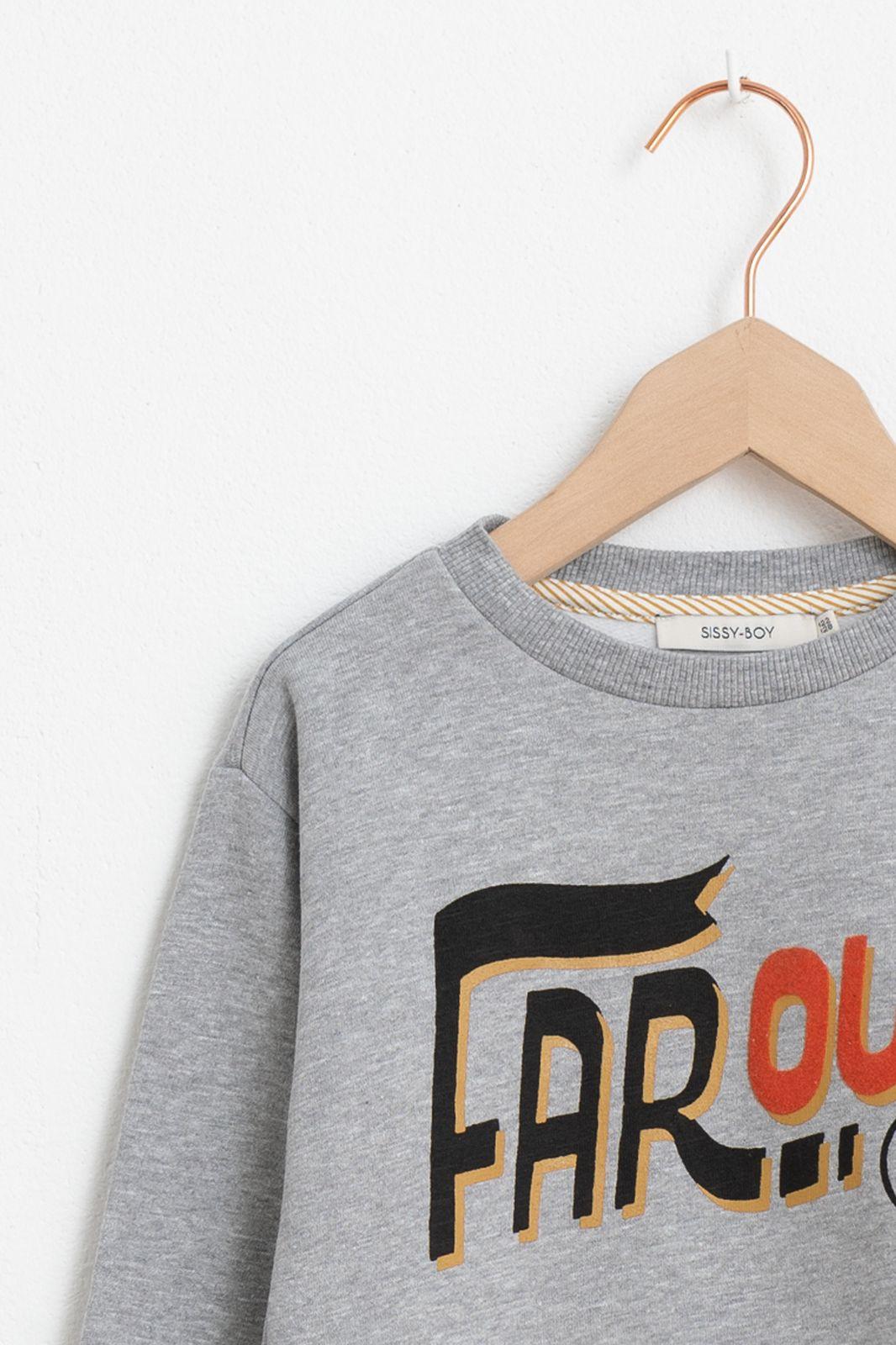 Grijze sweater met opdruk - Kids | Sissy-Boy