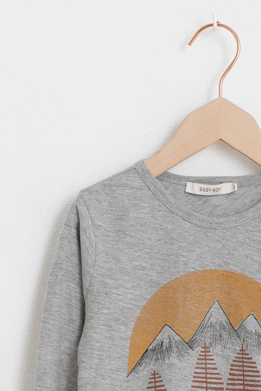 Grijs t-shirt met print - Kids | Sissy-Boy