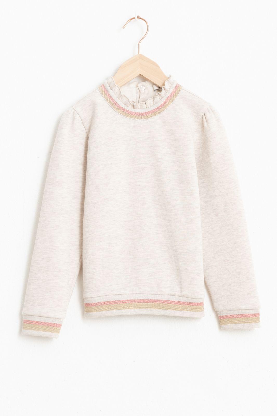 Grijze sweater met ruffle details - Kids | Sissy-Boy