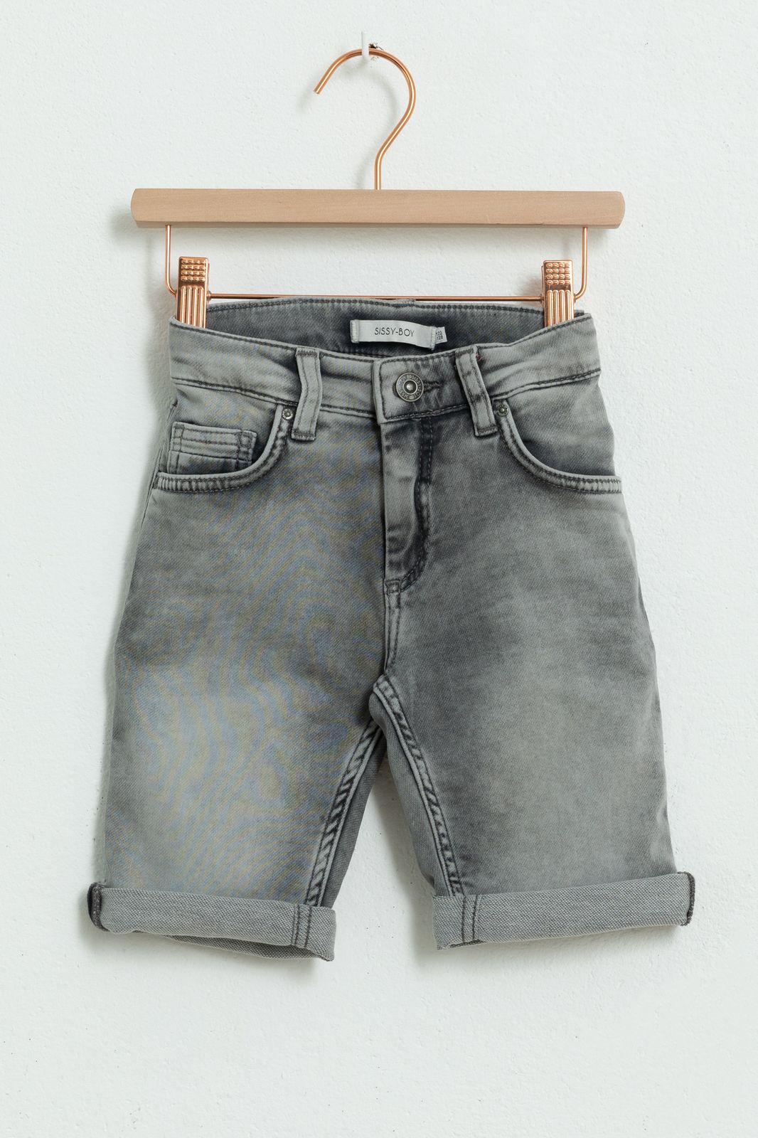 Grijze denim shorts - Kids | Sissy-Boy