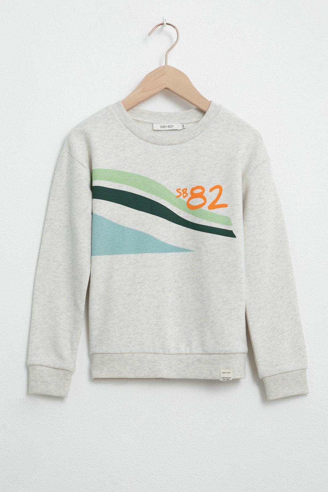 Grijze sweater met print - Kids | Sissy-Boy