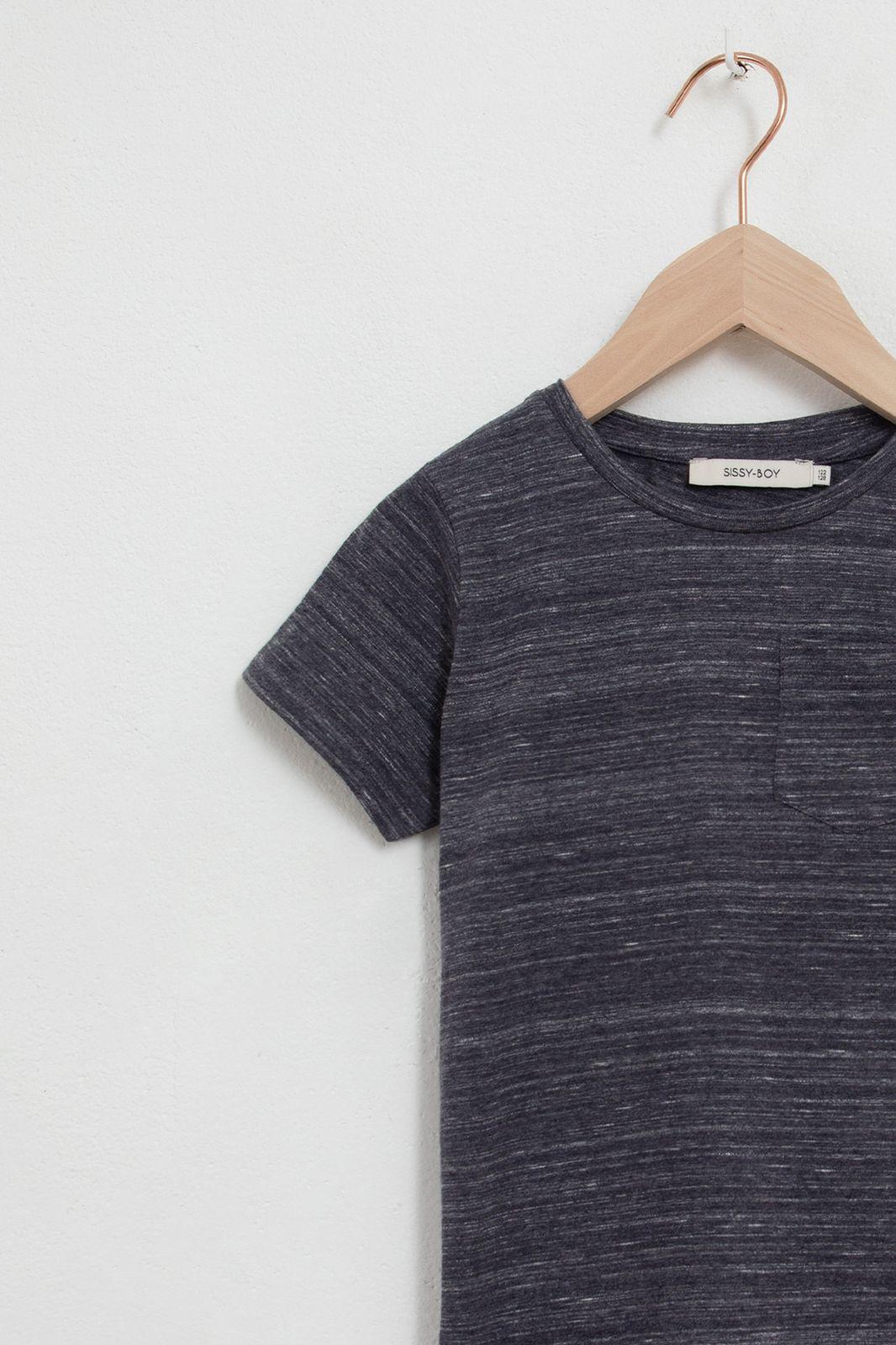 Grijs katoenen t-shirt melange