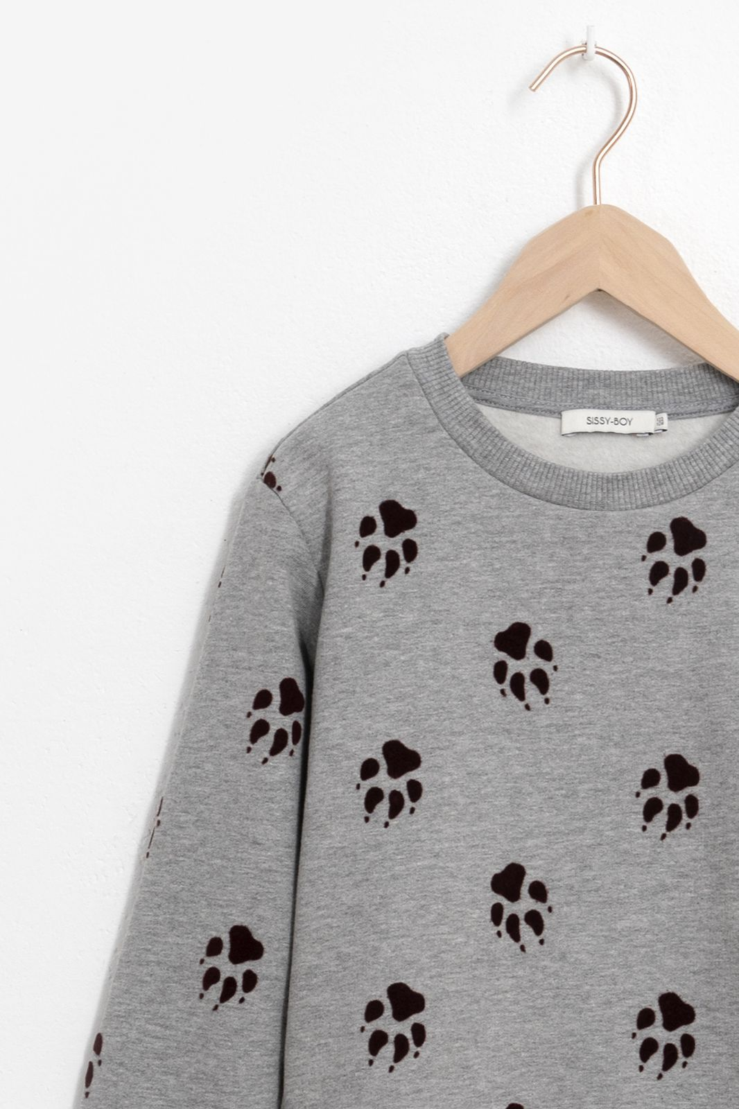 Grijze sweater met all over print - Kids | Sissy-Boy