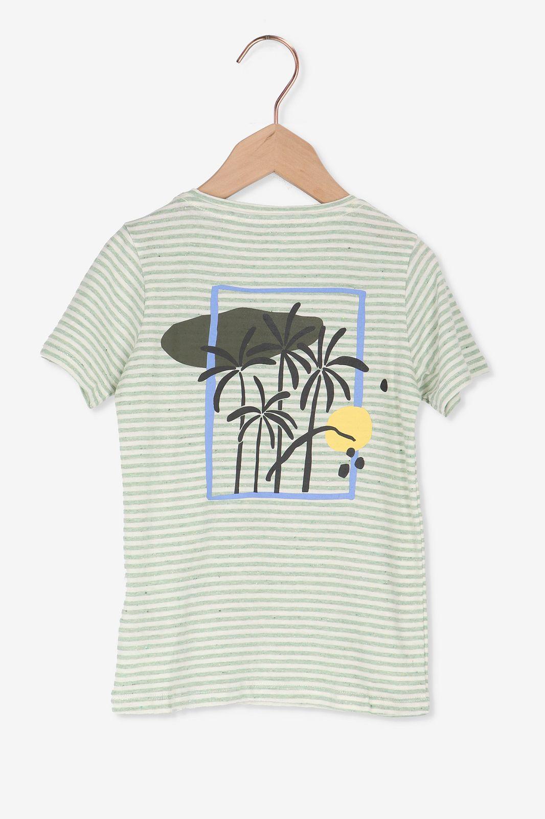 Groen t-shirt met strepen - Kids | Sissy-Boy