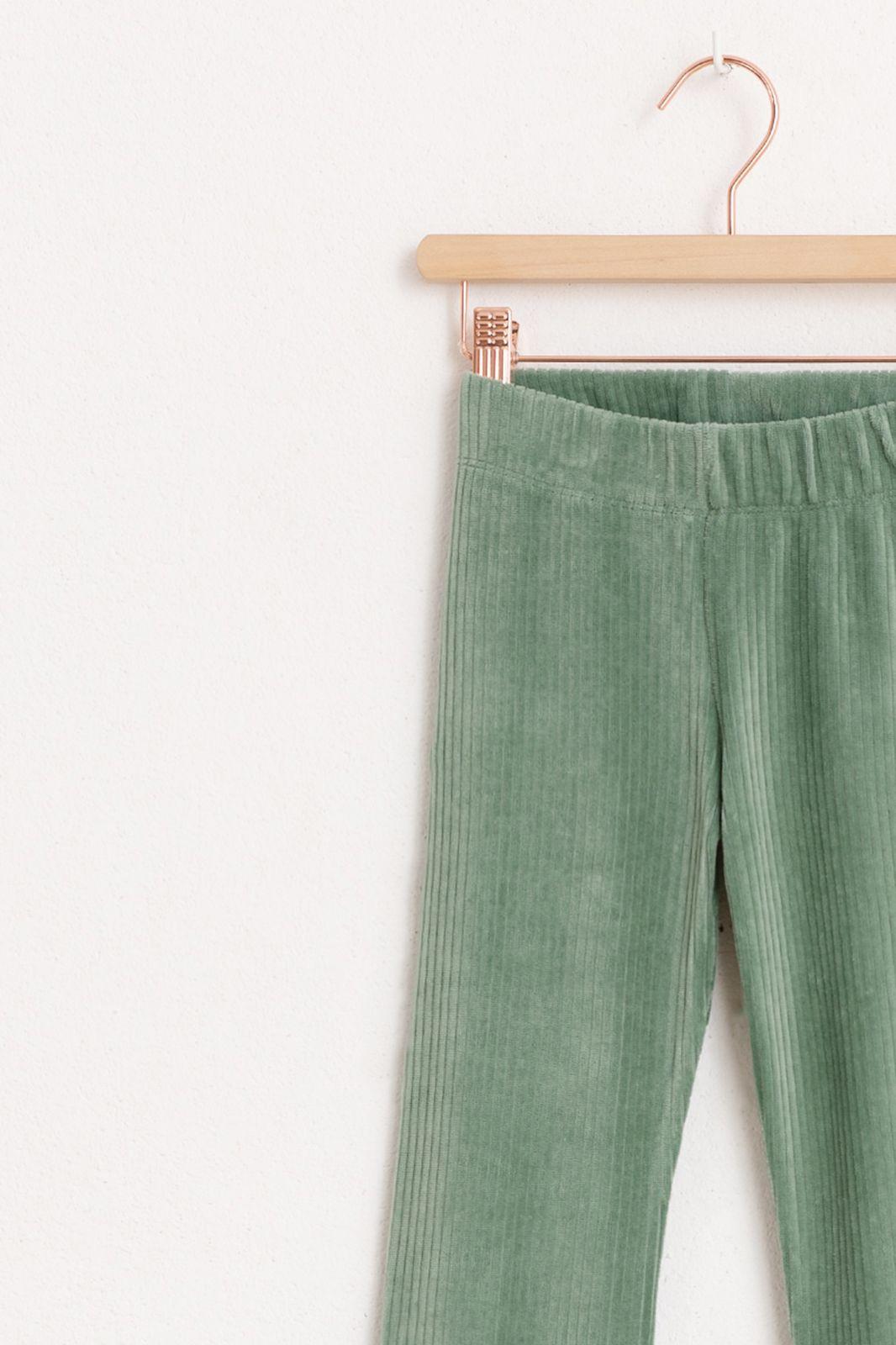 Groene rib flare legging