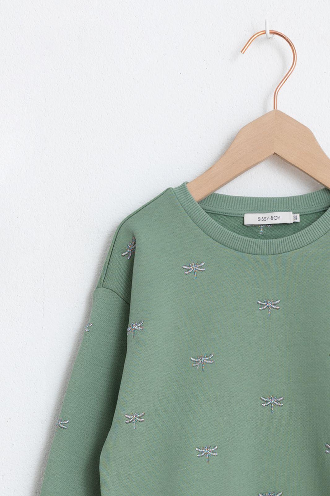 Groene trui met libelles - Kids | Sissy-Boy