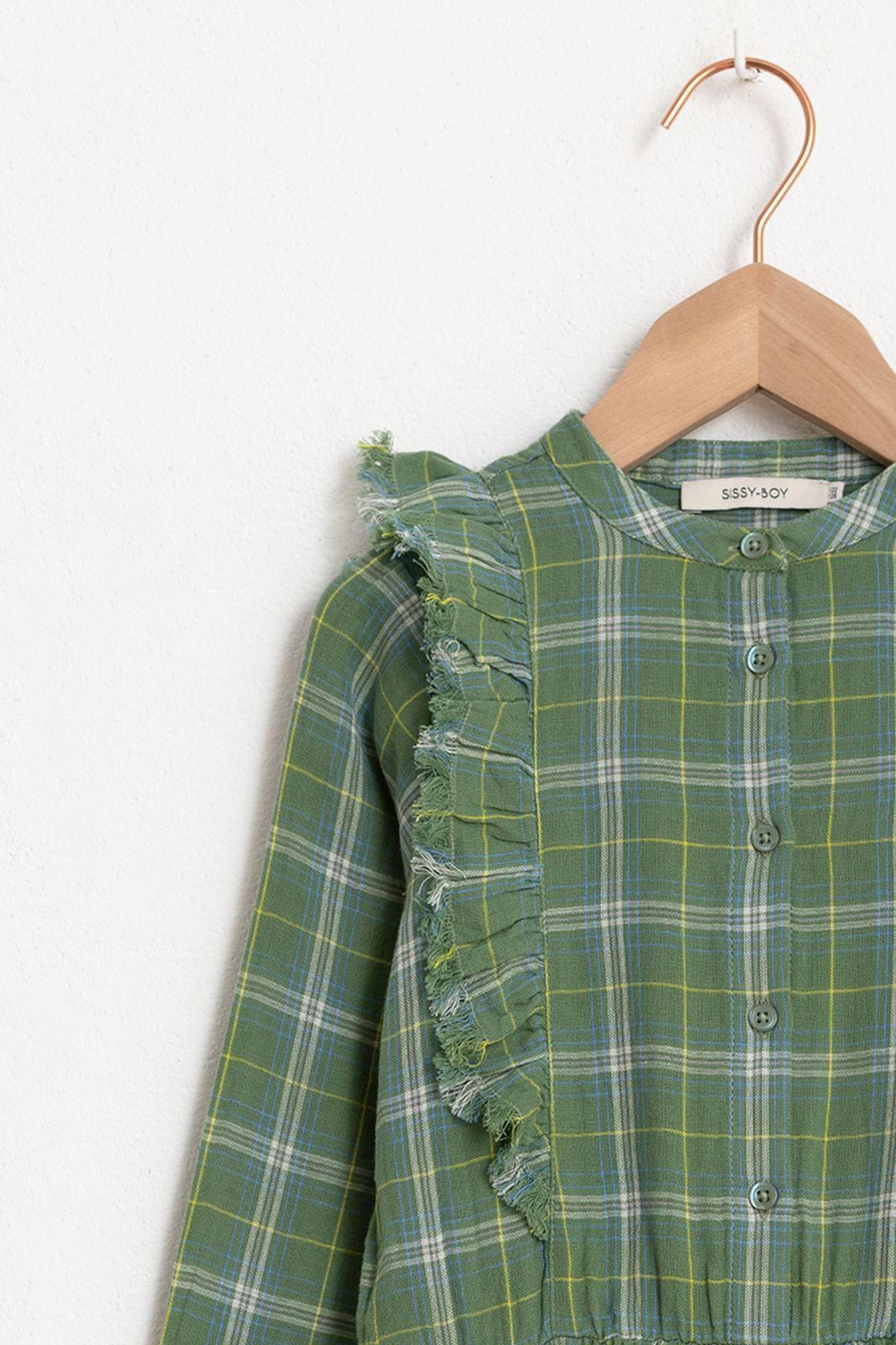 Groene jurk ruitjes - Kids | Sissy-Boy