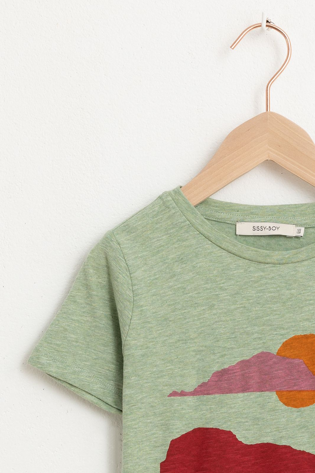 Groen T-shirt met korte mouw en artwork - Kids   Sissy-Boy