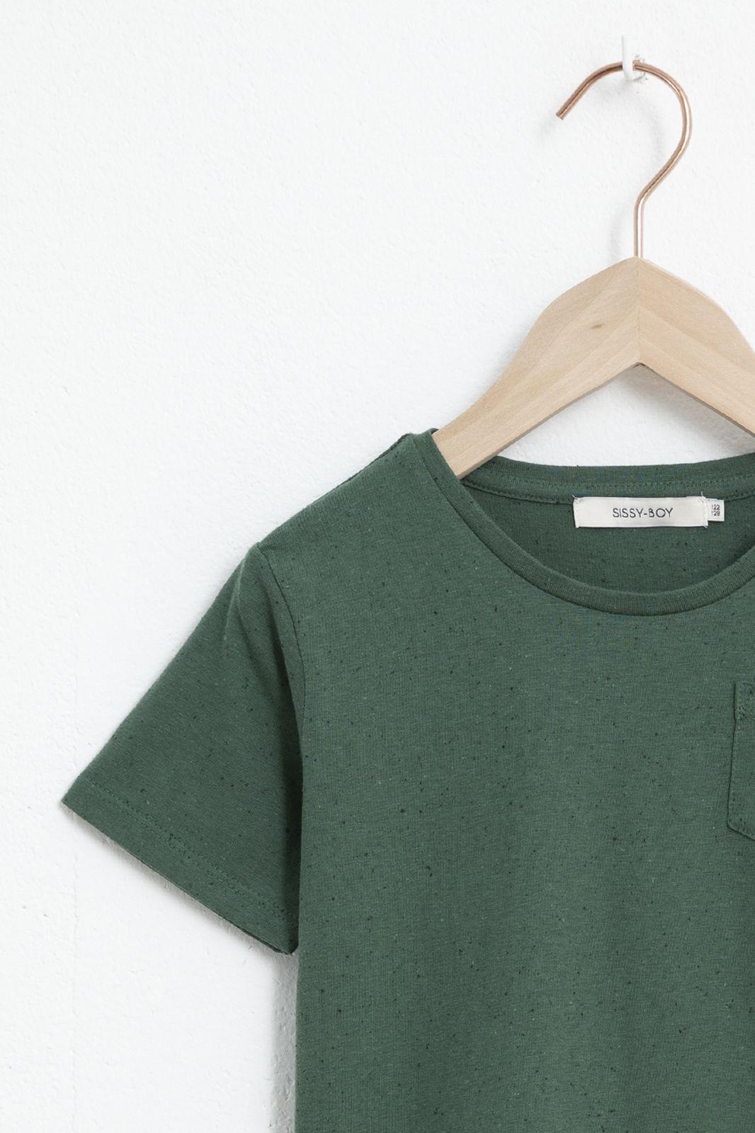 Groen katoenen T-shirt met korte mouw - Kids | Sissy-Boy