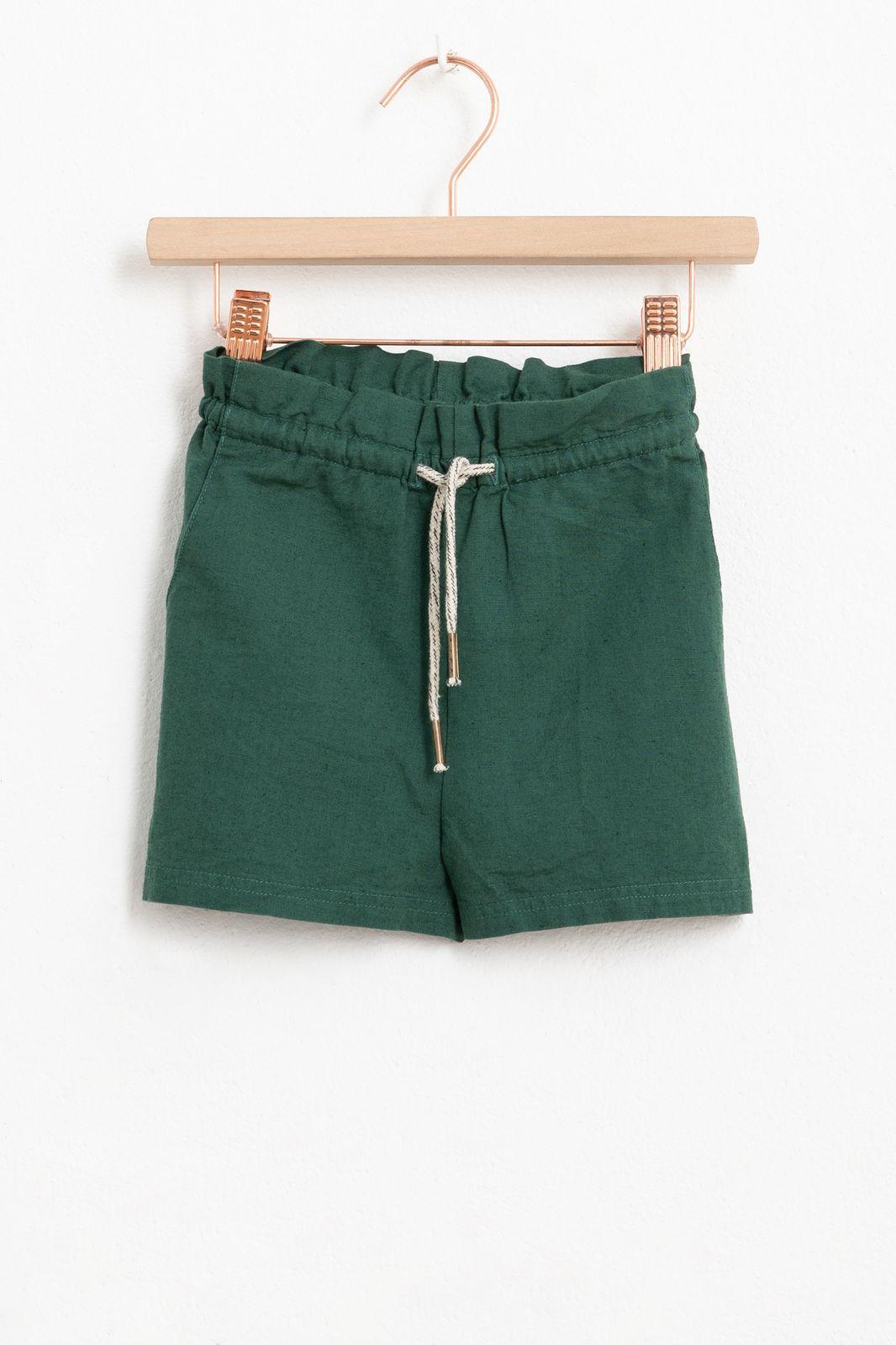 Groen paperbag shortje
