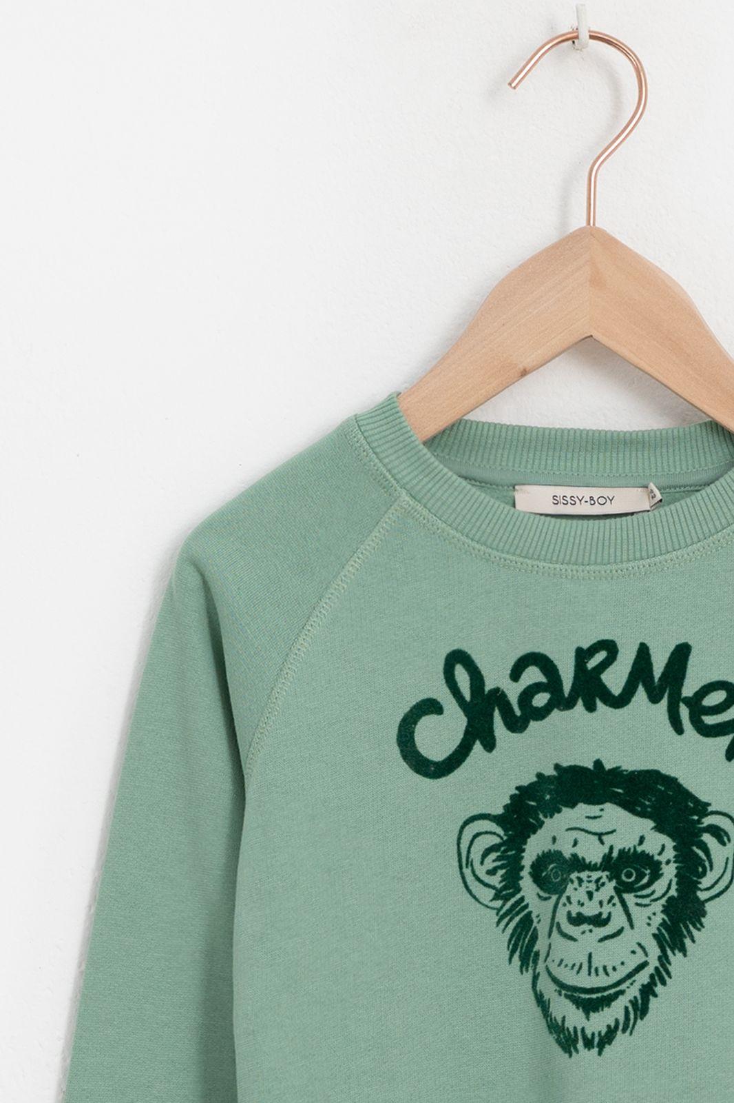 Groene sweater chimpansee - Kids | Sissy-Boy
