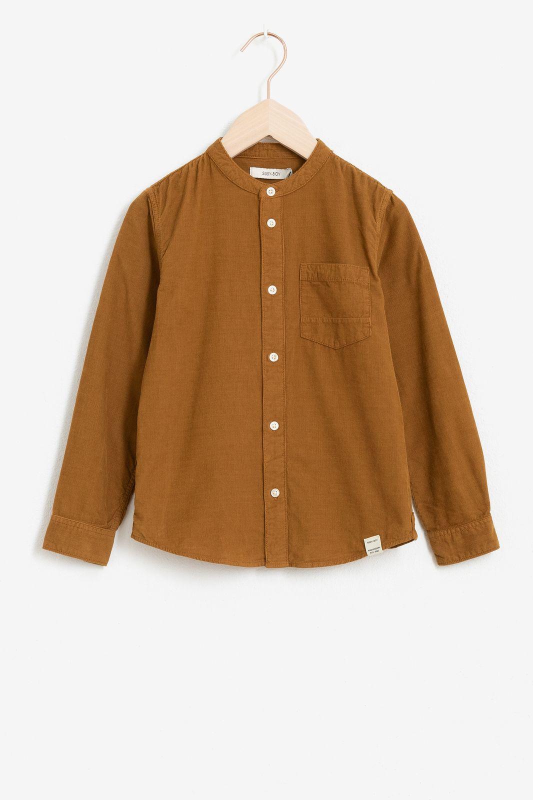 Bruin corduroy overhemd met platte kraag - Kids | Sissy-Boy