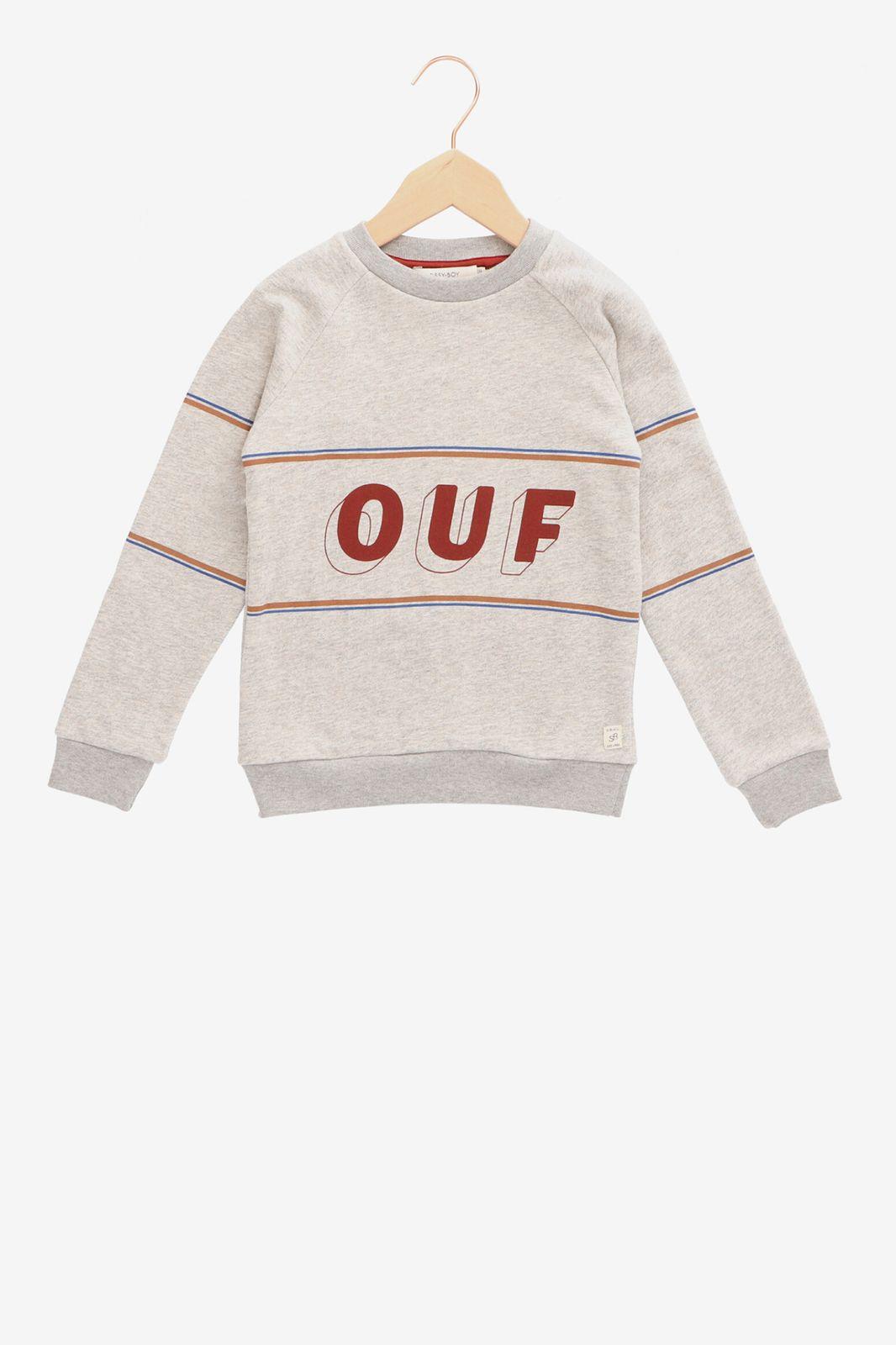 Grijze sweater OUF - Kids | Sissy-Boy