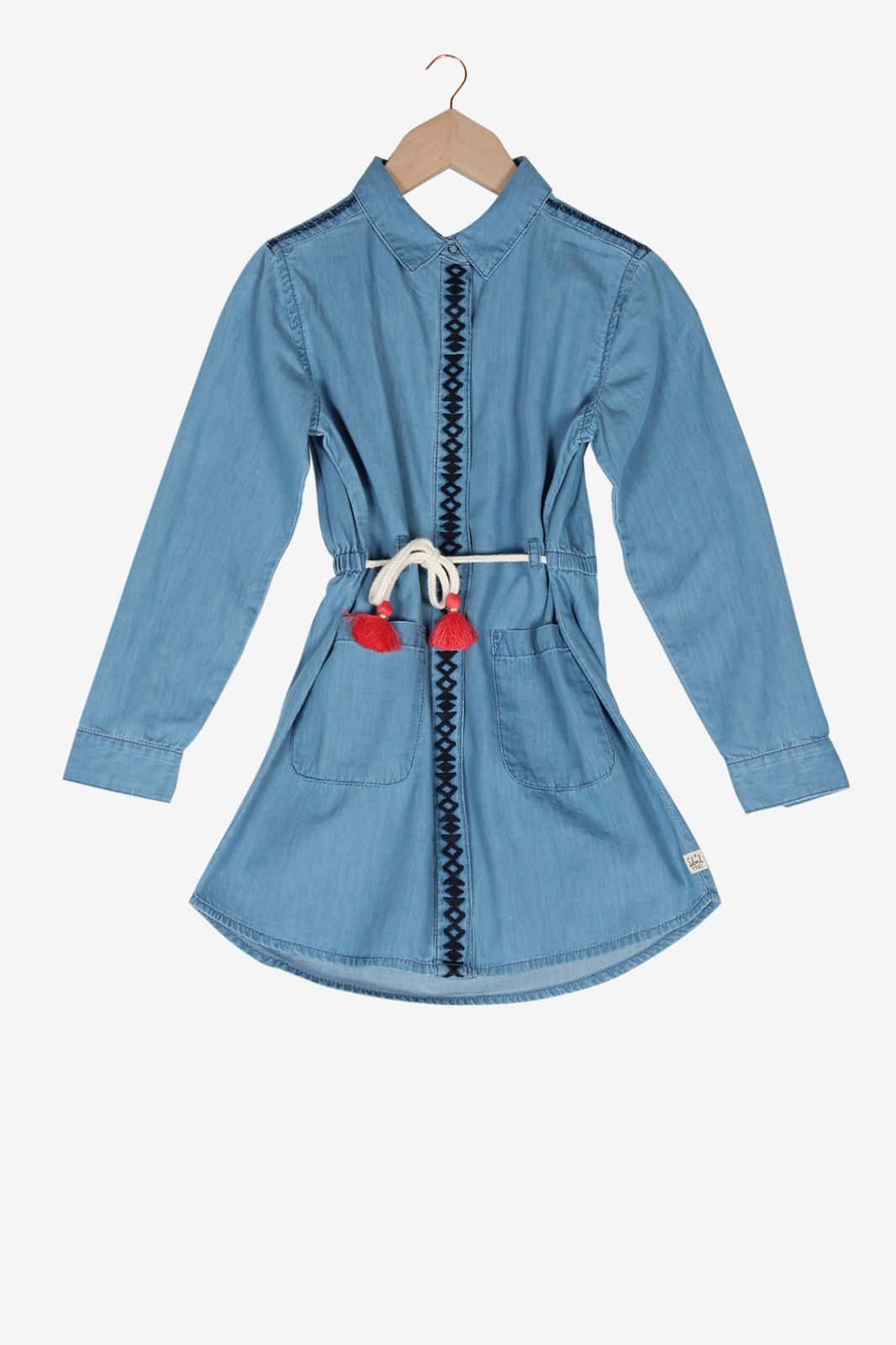 Denim blousejurk met koord - Kids | Sissy-Boy