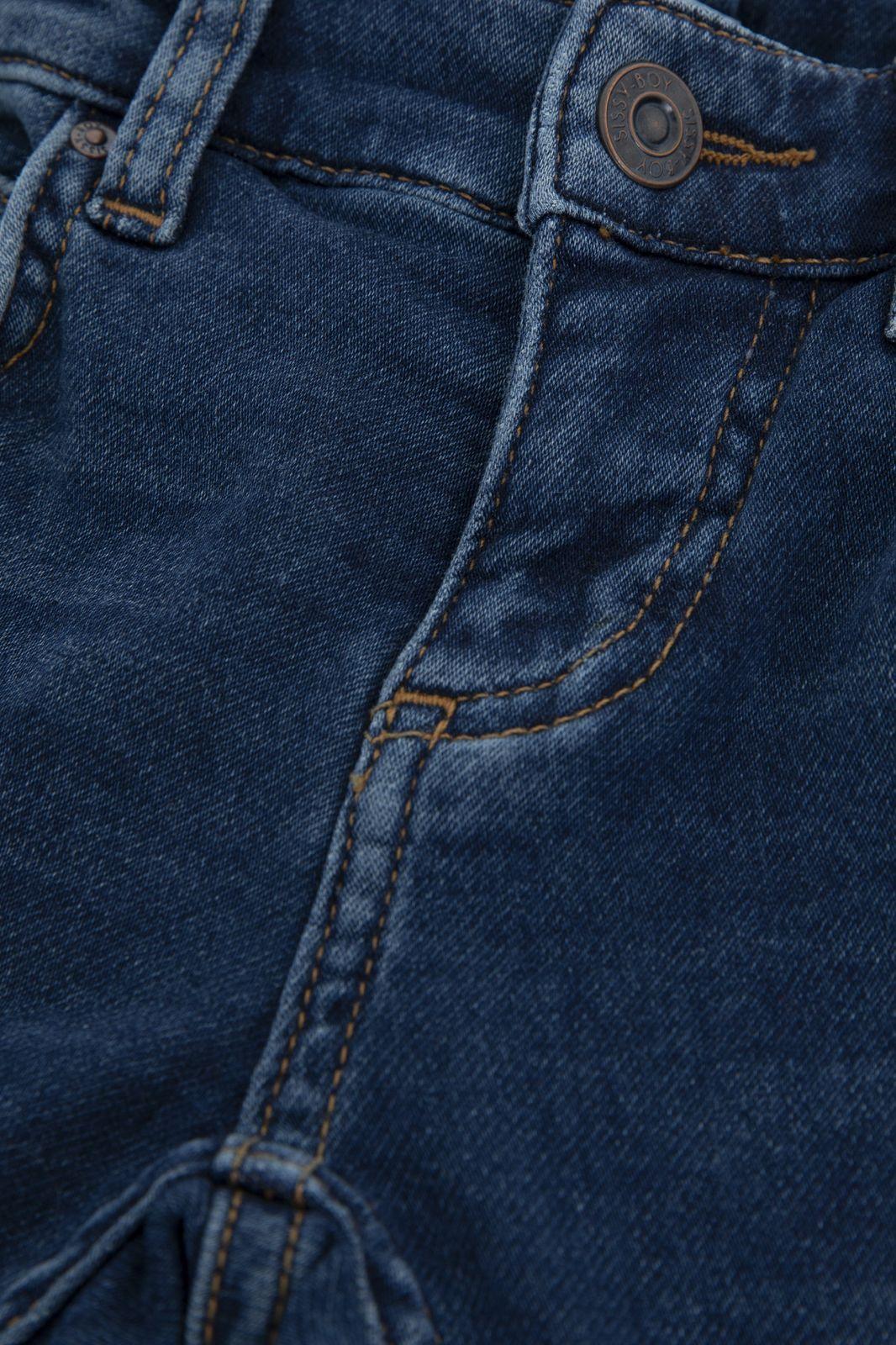 Blauwe jog jeans