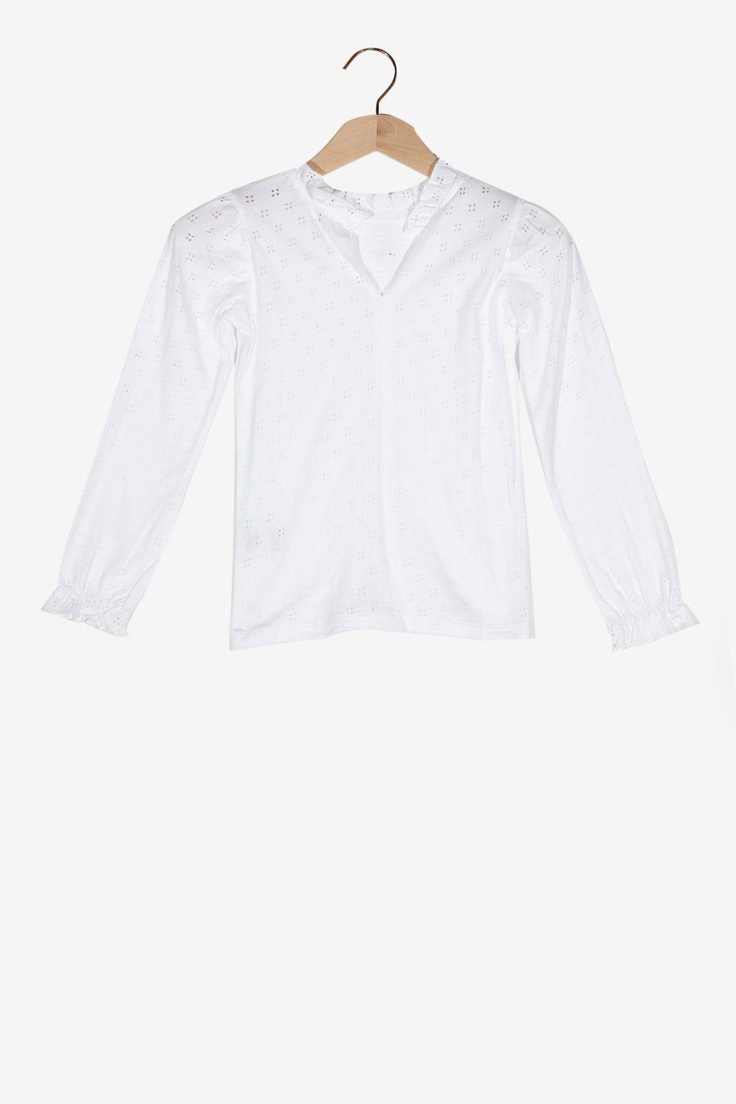 Wit T-shirt met kraagje - Kids | Sissy-Boy