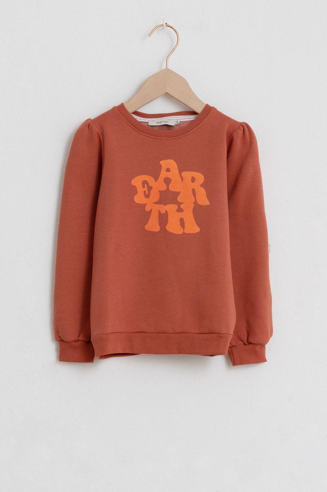 Oranje sweater met tekst - Kids | Sissy-Boy