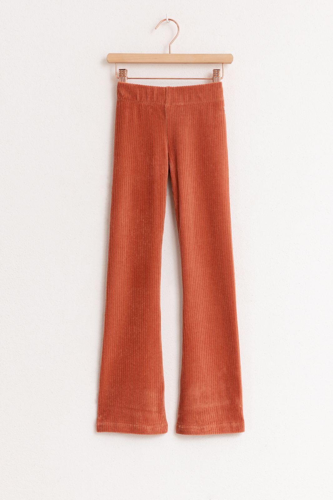 Roze/oranje rib flare legging - Kids | Sissy-Boy