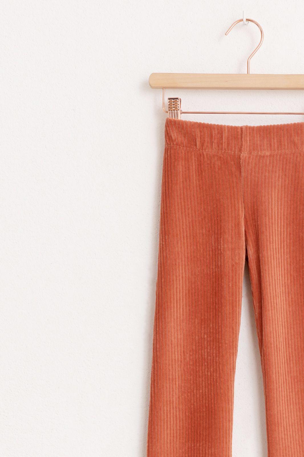 Roze/oranje rib flare legging - Kids   Sissy-Boy