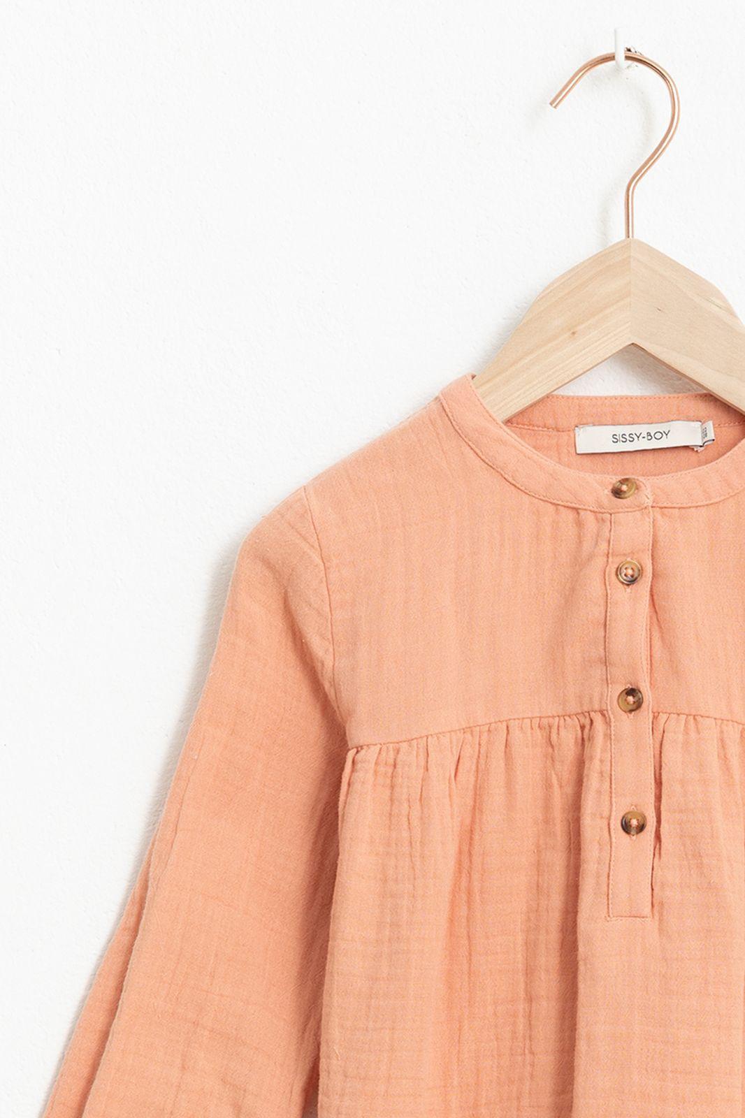 Oranje mousseline blouse met lange mouw - Kids   Sissy-Boy